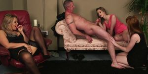 PURE CFNM - Brit CFNM babe spunked on face after tugjob
