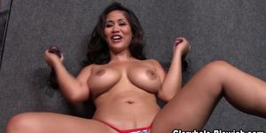 Asian hoe tugs big black dicks