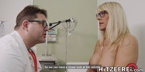 HITZEFREI Busty blonde German MILF fucked by her doctor