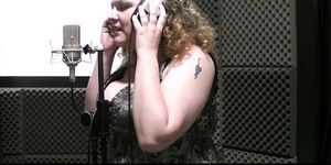 Curly-haired BBW pleases sound engineer Porn Videos