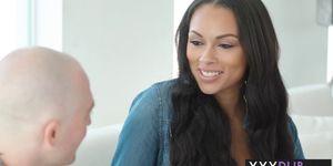 Ebony MILF massage with big tits friend and her partner (Bethany Benz, Abigail Mac)