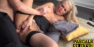 Blonde MILF Rebecca Smyth getting her asshole fucked hard