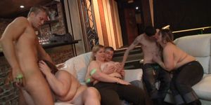 He fucks and cums on sexy chubby lady at party Porn Videos