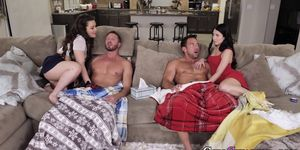 Stepdaughter Teens in Four Way