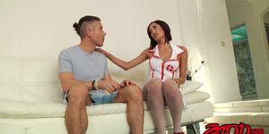 Gorgeous nurse babe Chloe Amour screwed and facialized