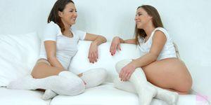 SAPPHIC EROTICA - Lesbians Amirah Adara and Suzy Rainbow in Truth or dare by SapphiX