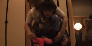 The young wife\'s massage in the japanese-style hotel