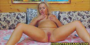 Chubby Busty Big Ass Blonde German Masturbates