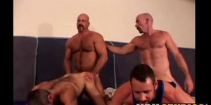 Two sub homos raw drilled and cum fed by martial artists