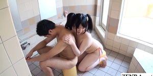 JAV BBW bathing soapy big breasts foreplay Subtitled
