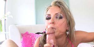 Kinky MILF Courtney Cummz cum sprayed after POV doggystyle
