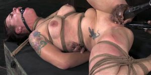 Tattood tied up sub punished roughly