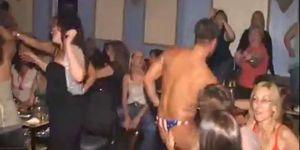 Women Attend Public Male Stripper Party