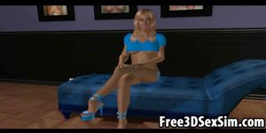 Foxy 3D cartoon redhead hottie gets fucked hard