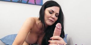 Milf with big tits sucks and tittyfucks
