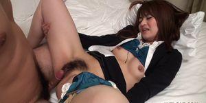 Japanese brunette Kimoko Tsuji is naughty uncensored