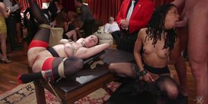 Unchained Slave Orgy Porn Videos
