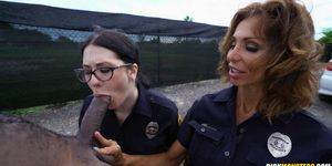 Interracial with 2 Female Police Officers