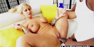 Big assed Ryan Conner grabs a bbc and enjoys interracial sex