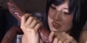 Sex monster porn - Sweet jap sex slave blowing monster tentacles