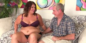 Lusty BBW Danni Dawson Has Her Belly and Ass Licked Before Taking a Thick Cock