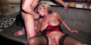Husband Shares his German Wife Jenny with Friend in Threesome