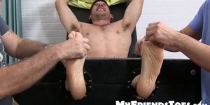 Handsome Leo Giamani unable to move with ticklers around