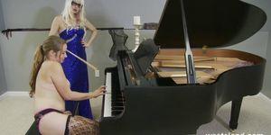Piano Pleasure For Submissive Sapphic Slave