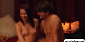 Married couples swap partners and orgy in the red room