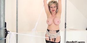 Cheating english mature gill ellis exposes her heavy naturals
