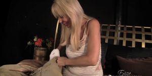 Ericka Lauren Hand Job in her Bed