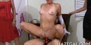 Oiled babes in lesbo fun - video 4
