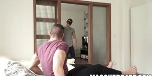 Striper and birthday dude get naughty in the bedroom