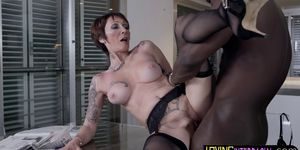 Mature Euro Chick Riding Hard Black Dick