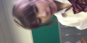 Asian teen finger bangs - video 1