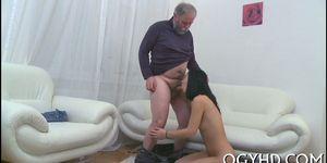 Old dude fucks  juicy pussy Porn Videos