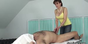 Cheating british milf lady sonia shows off her big jugs