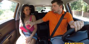Fake Driving School - Chloe Lamour Gets Her Big Tits Out