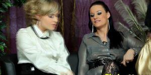 Xxx porn sex hardcore - Classy pissfetish lesbians ruin a fur coat