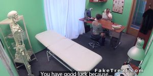 Doctor fucks petite patient in fake hospital