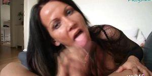 SCOUT69 - German Mom Pov teased Blowjob Handjob for Step Son