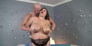 Large Lady Rides and Gets Mouth Spermed
