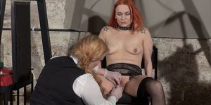 Lesbian play piercing punishment and extreme amateur bdsm of Dirty Mary in needle torment and hardcore masochist enslaved by cru Porn Videos