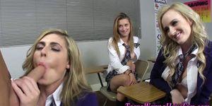 Teen schoolgirl pussy rub