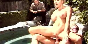 Blonde Swinger Wife Outdoors Fucks Total Stranger