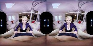 BaDoinkVRcom Blonde Escort Lady Laura Bentley Has VR Show 4U
