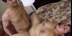Big titty Asian Tyung Lee is hungry for cock