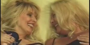 Two matures ladies share a cock