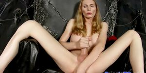Busty russian ts dildoing her asshole