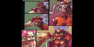 Comics: Interracial huge breast big cock